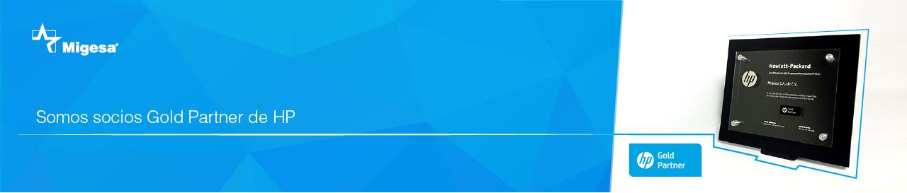 Banner de web Gold Partner HP premio award